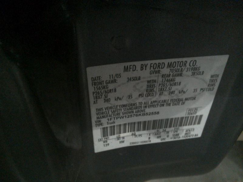 Fuse Box Engine Right Hand Kick Panel Fits 05-06 FORD F150 PICKUP 128151 12