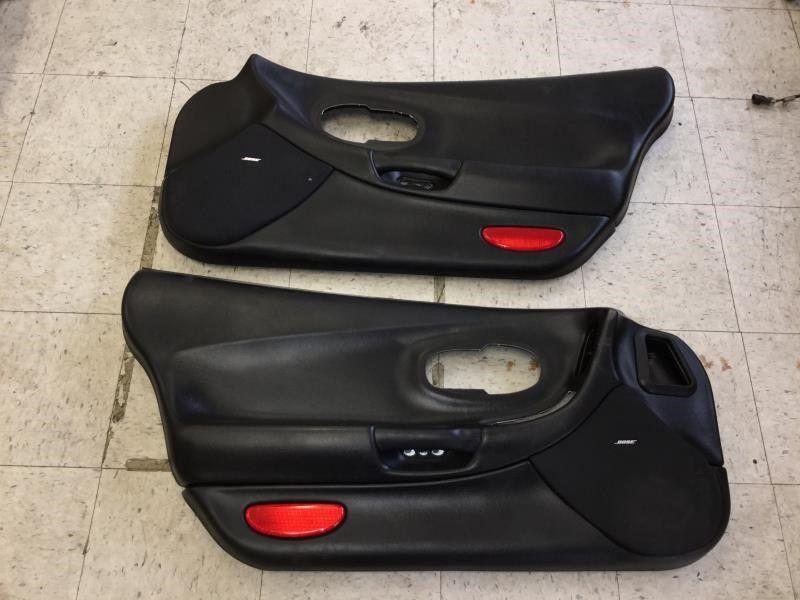 97 04 Corvette C5 Interior Door Trim Panels Black Driver Passenger Ebay