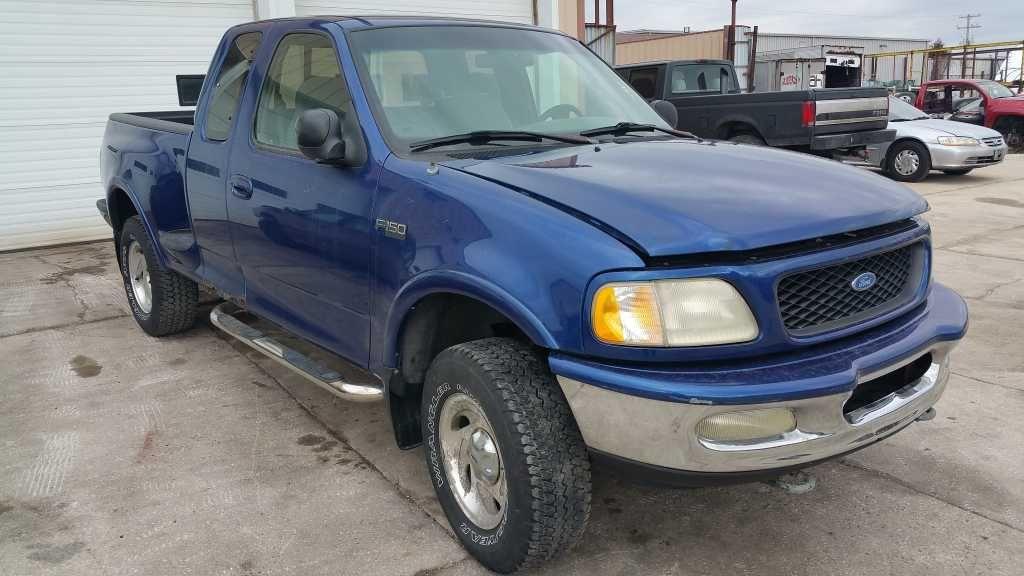 97 98 ford f150 front bumper assy 4x2 chrome w fog l cutouts Ford Excursion Bumpers 97 98 ford f150 front bumper assy 4x2