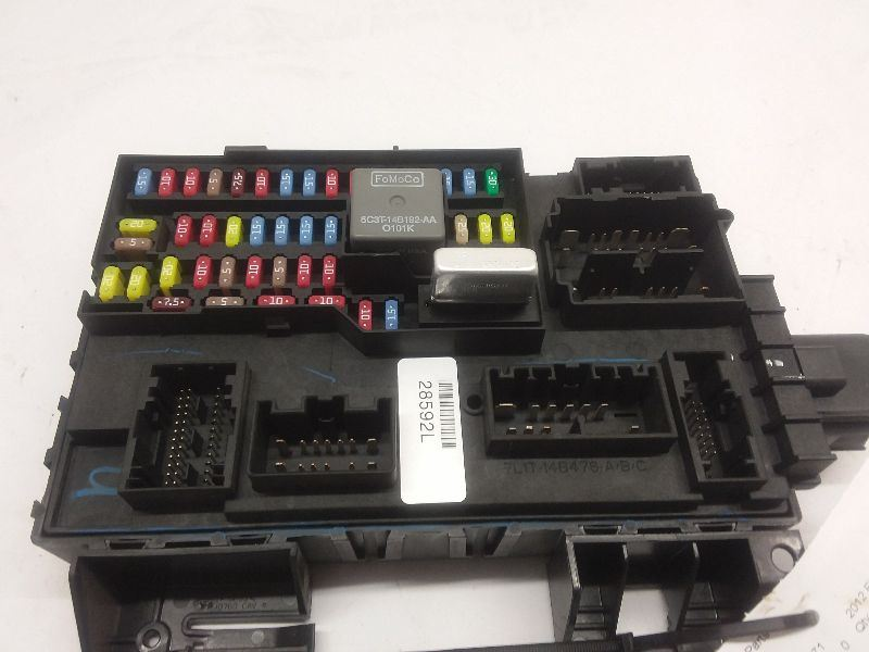 ford fusion multi function door alarm control module interior dash fuse box  body