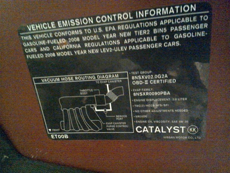 20072012 Nissan Sentra Fuse Box 20l 2198733 Ebayrhebay: 2008 Sentra Fuse Box At Gmaili.net